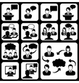 Talk social icon vector image vector image