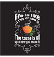 tea quotes and slogan good for tee life is like a vector image vector image