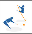 throwing core and pole vault vector image