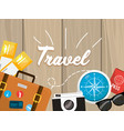travel briefcase to recreation and explore vector image vector image
