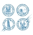 travel stamps vector image