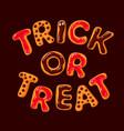 trick or treat halloween gingerbread cookies vector image