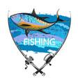 tuna fishing symbol vector image vector image