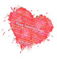 valentin heart with text vector image vector image