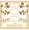 Vintage frame design with floral branches vector image