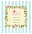 wedding flower frame vector image vector image