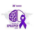 world epilepsy day vector image vector image