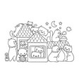 cats in house vector image