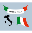 Set template for Italy Map of Italy Ribbon made in vector image
