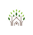 abstract house and leaf logo icon design template vector image vector image