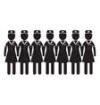 air hostess stewardess icon design vector image