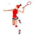 Badminton 2016 Sports Isometric 3D vector image