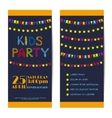 banners invitation cards set Kids party vector image vector image