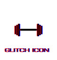 barbell icon flat vector image