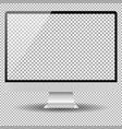 blank monitor screen computer mockup vector image vector image