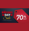 boxing day sale background with price tag vector image