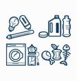 broken appliances and dirty trash monochrome vector image vector image