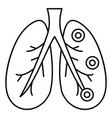 bronchitis lungs icon outline style vector image vector image