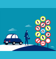 businessman and traffic signs concept traffic vector image vector image