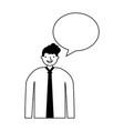 businessman portrait speech bubble vector image vector image