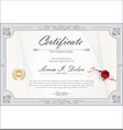 certificate or diploma retro vintage design vector image vector image