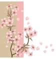 Cherry tree card with stylized blossom vector | Price: 1 Credit (USD $1)