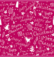 christmas pattern with handwritten inscriptions vector image vector image
