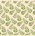 christmas seamless pattern with leaves vector image vector image