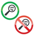 CMS search permission signs set vector image vector image