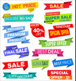 collection of labels stickers and tags flat design vector image vector image