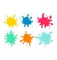 colorful paint spots set vector image vector image