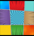 comic book backgrounds collection vector image vector image