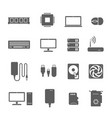 computer components icons vector image vector image