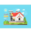 construction private houses flat vector image vector image