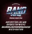 cool italic typeface bang bang vector image vector image