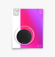 cover minimal design abstract gradient vector image vector image