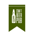 Craft beer pub logo concept isolated vector image