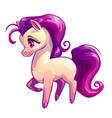 Cute cartoon standing litle horse vector image vector image