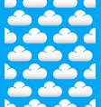 cute cloud pattern vector image