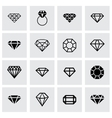 diamond icon set vector image