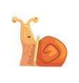 disoriented funny snail cute comic mollusk vector image vector image