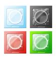 four condoms vector image