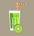 Fresh Kiwifruit Juice Drink vector image vector image