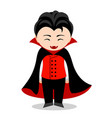 funny vampire cartoon character vector image