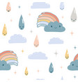 funny weather seamless pattern vector image vector image