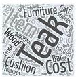 garden teak furniture Word Cloud Concept vector image vector image