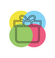 gift box isolated - holiday vector image