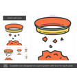 gold rush line icon vector image vector image