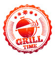 grill time label design vector image vector image