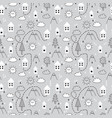 hand drawn tribal seamless pattern with cartoon vector image